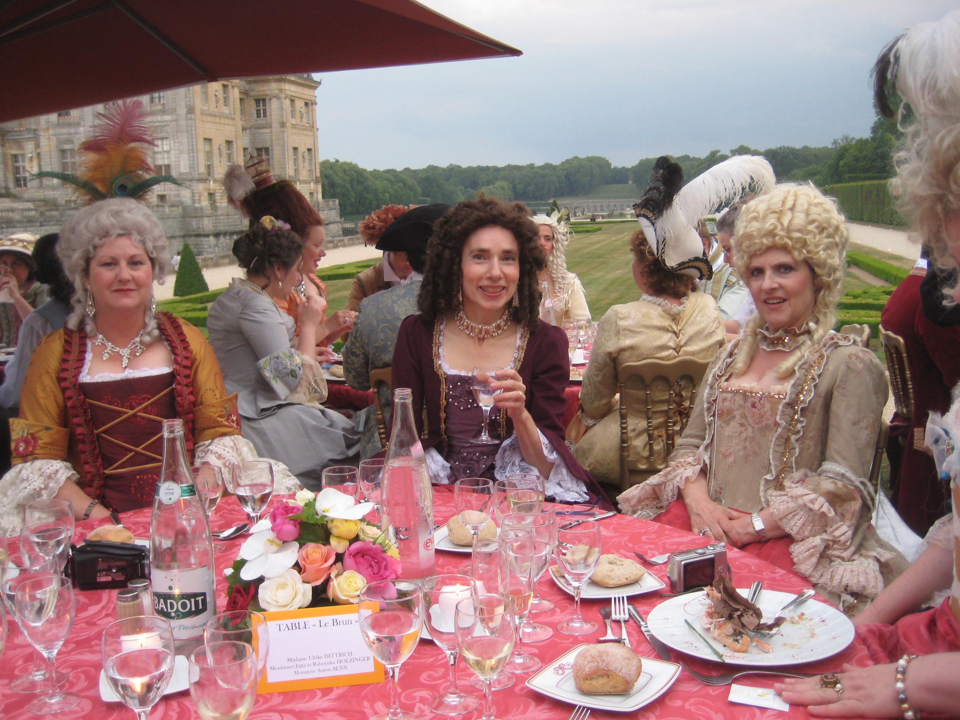 Diner  XVIII em à Vaux le Vicomte , Mai 2011