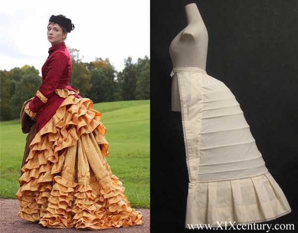 Как сшить платье с турнюром 676